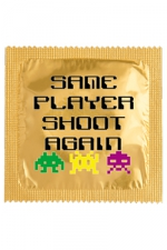 Préservatif humour - Same Player Shoot Again - Préservatif  Same Player Shoot Again , un préservatif personnalisé humoristique de qualité, fabriqué en France, marque Callvin.