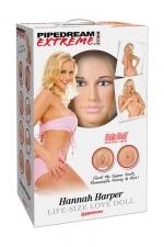 Poupée gonflable Hannah Harper - Une poupée de la collection Pipedream Extreme Dollz, les poupées réalistes à taille humaine.