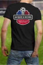 Tee-shirt  Football J&M - Soutenez l'équipe de France à votre manière en portant le Tee shirt Jacquie et Michel spécial coupe d'Europe.