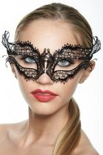 Masque vénitien Queen 2 - Masque vénitien fantaisie en métal incrusté de strass, un bijou mystérieux.