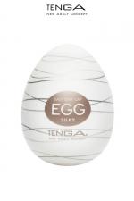 Tenga Egg Silky - Masturbateur nouvelle génération avec  nervures en forme de filaments de soie pour vous faire fondre de plaisir.