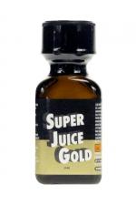 Poppers Super Juice gold 24ml - Le poppers Super Juice gold est un arôme puissant et fort à base de nitrite de Pentyle, en grand flacon de 24 ml.