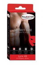 9 Préservatifs Perfect Size Lynx 49  - Avec Perfect size Lynx de 49 mm de diamètre, choisissez des préservatifs parfaitement ajustés à votre taille.