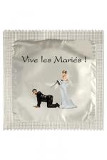 Préservatif humour - Vive Les Mariés - Préservatif  Vive Les Mariés , un préservatif personnalisé humoristique de qualité, fabriqué en France, marque Callvin.